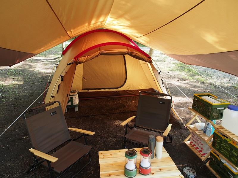 暑い日キャンプ